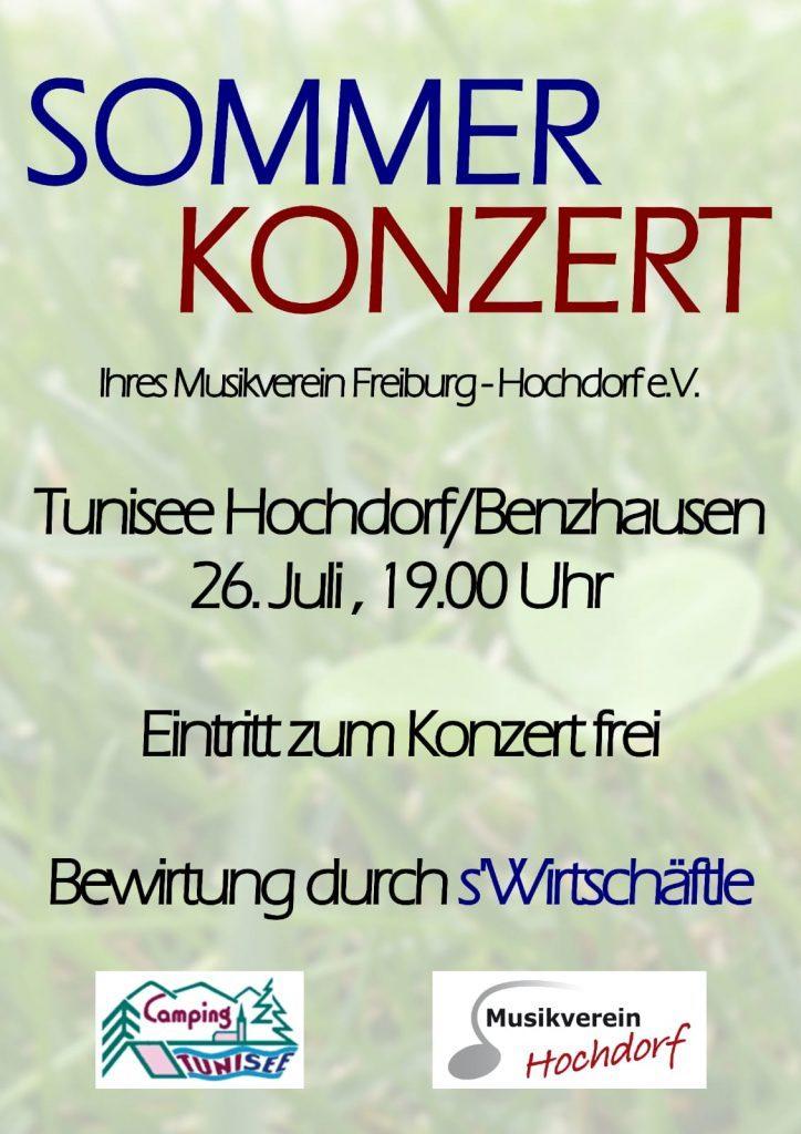 Sommerkonzert am Tunisee 26. Juli 19:00 Uhr